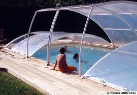 abri piscine bas