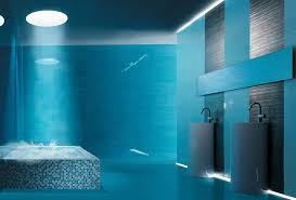 decoration maison salle de bain en bleu