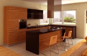 cuisine-contemporaine-en-bois-et-noire