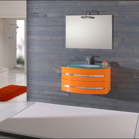 Meuble de salle de bain orange noel 2017 for Meuble salle de bain orange