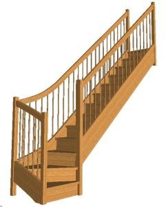 Construction d'escalier bois