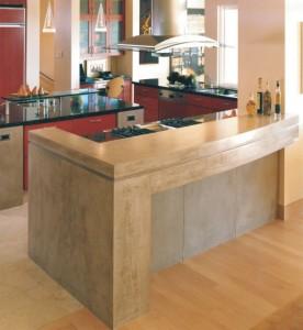 meuble en beton pour la deco interieur cuisine