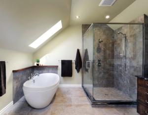 Amenagement de combles salle de bain
