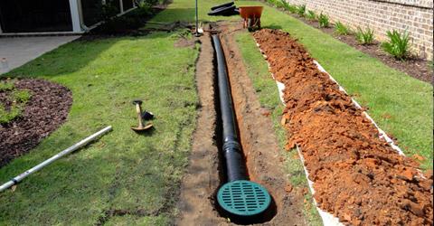 drainage de sol de batiment