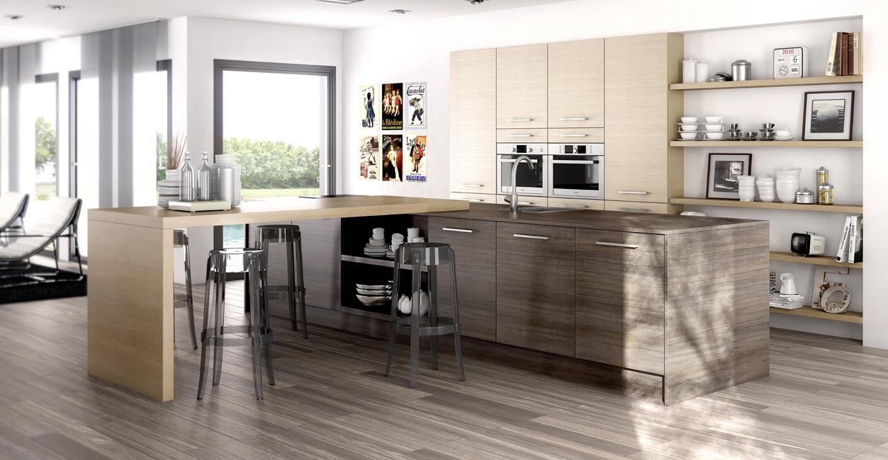 Cuisine americaine meuble: tendances cuisine aménagement meuble ...