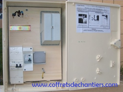Coffret de chantier edf monophase