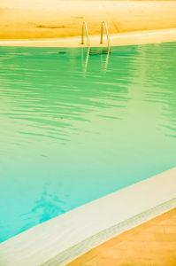 carrelage de piscine vert